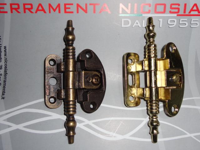 Cerniere per mobili antichi bandella per mobili cerniere ottone antico asimmetrico cerniere - Cerniere per ante cucina 180 gradi ...